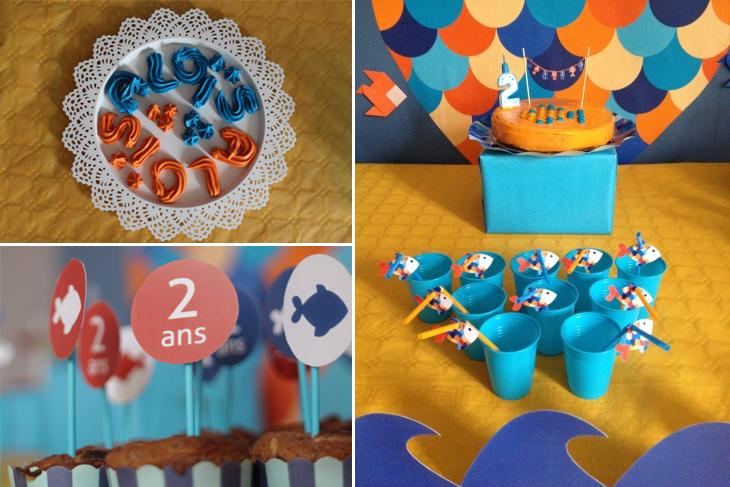 poisson, cake, meringues